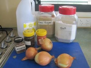 Tomate sauce ingredients