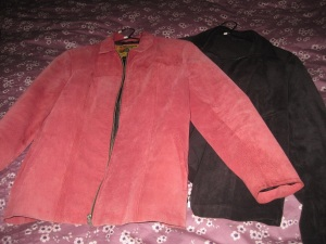 Pink and black jackets