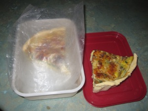 Quiche to freeze