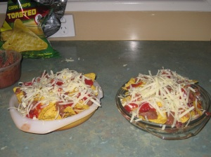 Nachos - ready for oven