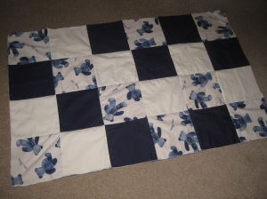 Patchwork quilt top