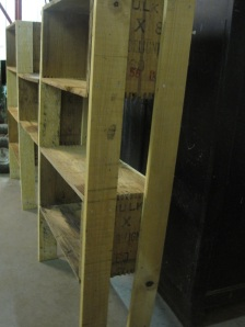 Shelving showing the legs