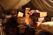 Boxes in attic