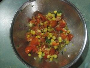 Corn & Tomato salsa
