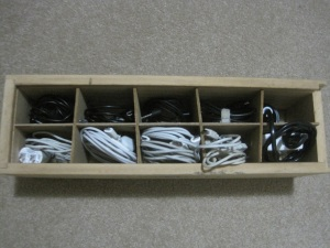 Cables in box