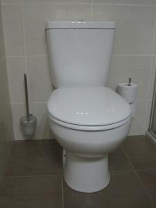 Toilet and floor