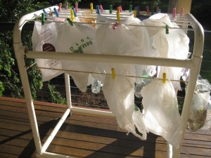Re-washed plastic bags