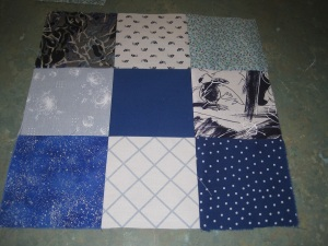 First squares sewn