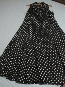 Black dress with white spots