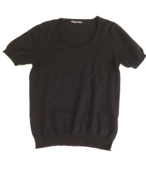 03 Black cashmere top