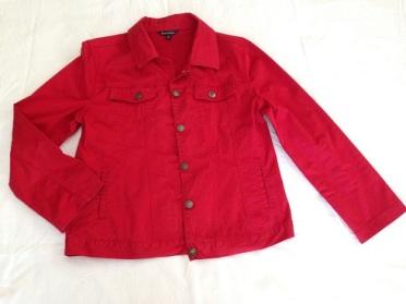 08 Red 'denim' jacket
