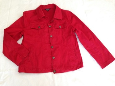 08 Red 'denim' jacket